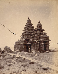 General view from the north-west of the Shore Temple, Mamallapuram 10032236